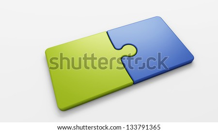 puzzle pieces to place concepts - stock photo