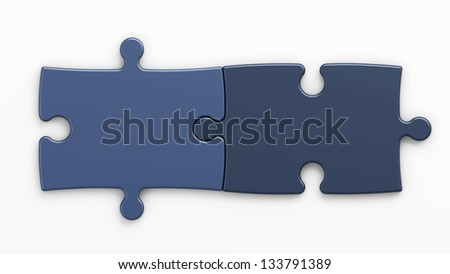 puzzle pieces to place concepts with clipping path - stock photo