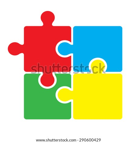 Puzzle vector illustration on a white background