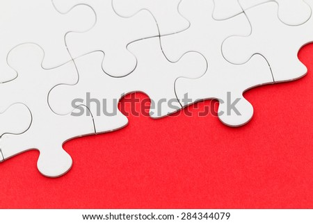 Puzzle with missing part - stock photo