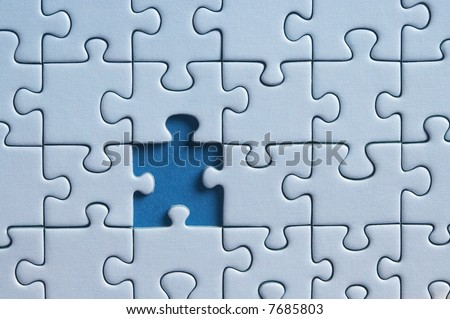 puzzle with one missing piece