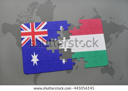 Puzzle national flag australia kuwait on stock illustration puzzle with the national flag of australia and hungary on a world map background gumiabroncs Gallery