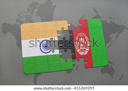 Puzzle national flag india afghanistan on stock illustration puzzle with the national flag of india and afghanistan on a world map background 3d gumiabroncs Image collections