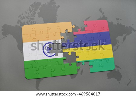 Puzzle national flag india mauritius on stock illustration 469584017 puzzle with the national flag of india and mauritius on a world map background 3d gumiabroncs Image collections