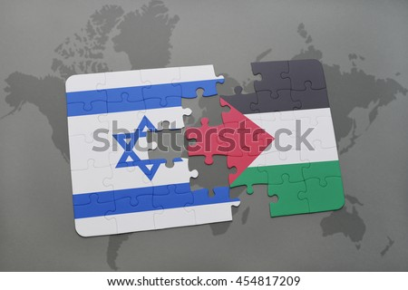 Puzzle national flag united states america stock illustration puzzle with the national flag of israel and palestine on a world map background 3d gumiabroncs Choice Image