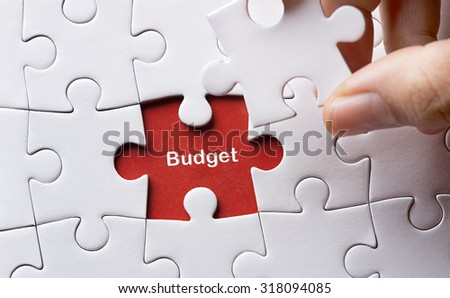 Puzzle with word budget  - stock photo