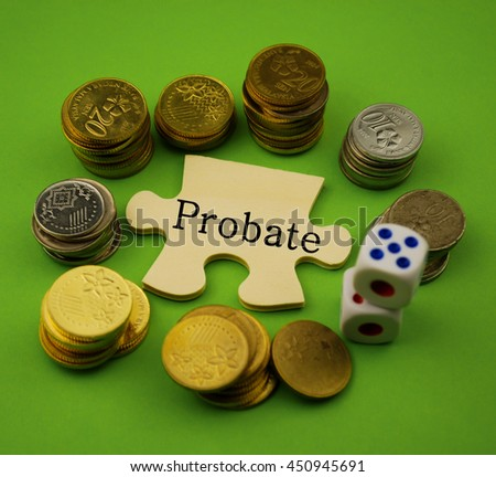 Puzzle with word probate - stock photo