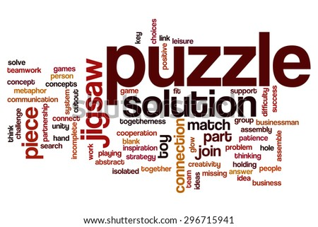 Puzzle word cloud