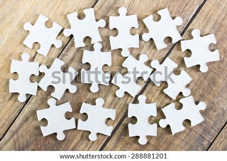 Puzzles. - stock photo