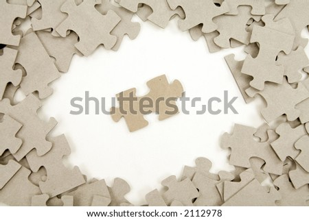 puzzles for background, business concept