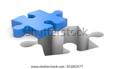 Puzzles metaphor - stock photo