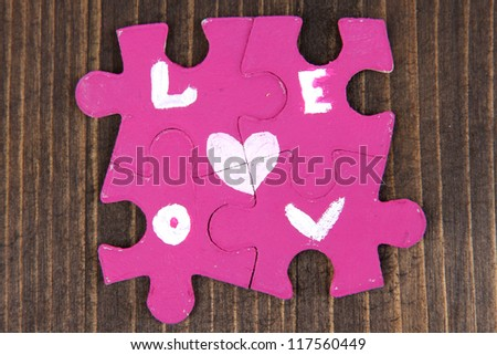 Puzzles with words I - stock photo