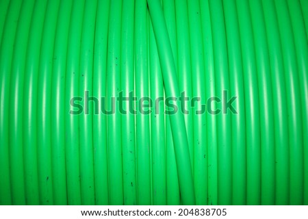 PVC electrical control cable  - stock photo