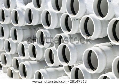 PVC Pipe - stock photo