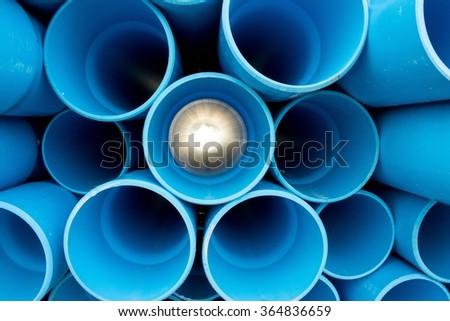 PVC pipes - stock photo