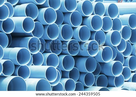PVC pipes for drinking water. - stock photo