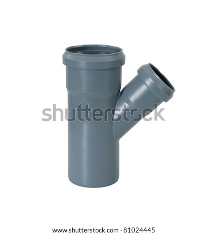 PVC plastic pipe for sewers - stock photo