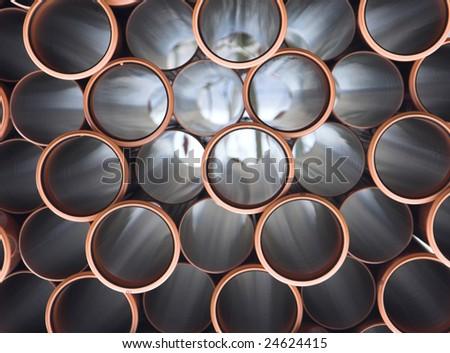 pvc tubes - stock photo