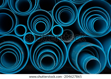 PVC water pipe. - stock photo