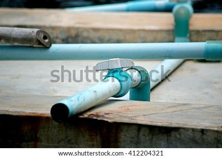 PVC water pipes - stock photo