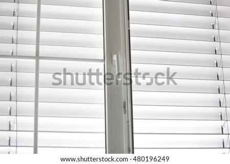 Pvc window with blinds