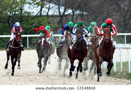 PYATIGORSK, RUSSIA - MAY 2: The race for the prize of the Tagora, May 2, 2010 in Pyatigorsk, Caucasus, Russia.