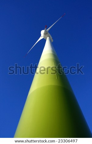 pylon of wind turbine - stock photo