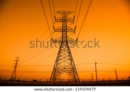 pylon power - stock photo