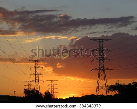 Pylon sunset.