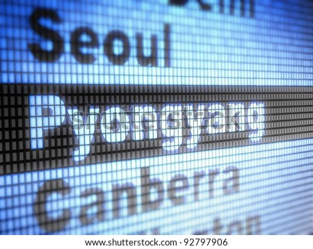 Pyongyang. World capitals Full collection of icons like that is in my portfolio - stock photo
