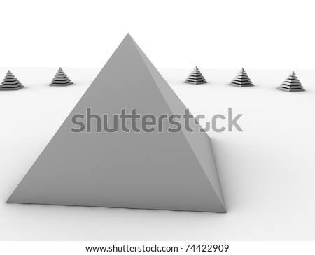 Pyramid - stock photo