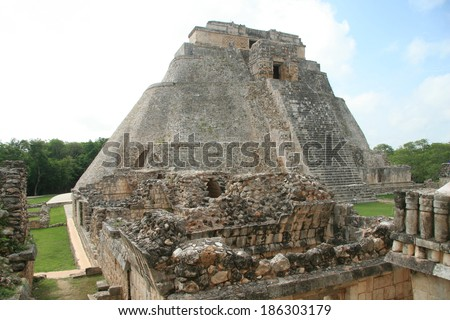 Pyramid at Uxmal, Mexico