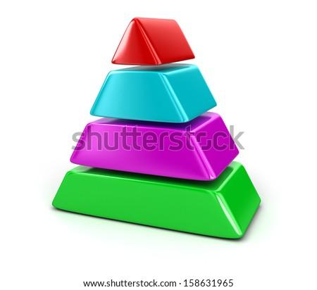pyramid Chart - stock photo