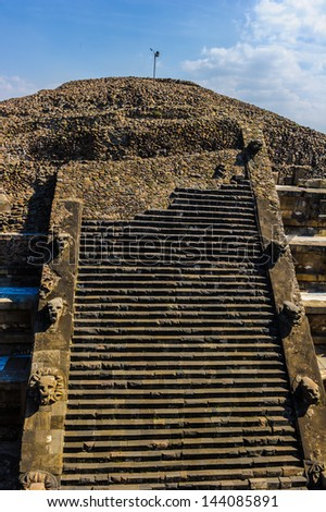 Pyramid from the Pre-Columbian Mesoamerican city Teotihuacan, Mexico - stock photo