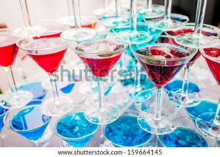 Pyramid holiday glasses on a background - stock photo