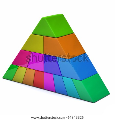 Pyramid isolated on white background