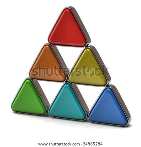 Pyramid isolated on white background - stock photo