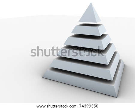 Pyramid levels - stock photo