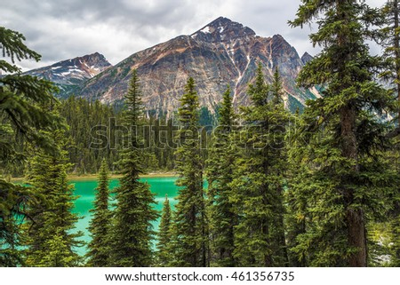 Pyramid Mountain reflecting in Patricia Lake Jasper National Park Alberta, Canada