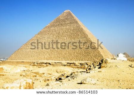 Pyramid of Giza - stock photo