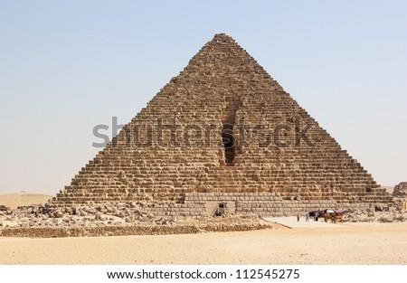 Pyramid of Menkaure. Giza, Cairo, Egypt. - stock photo