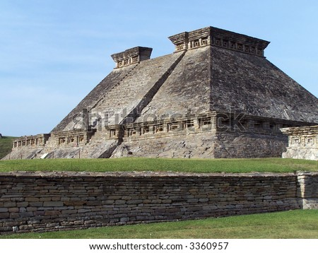 Pyramid of Tajin. Mexico (UNESCO World Heritage site) - stock photo