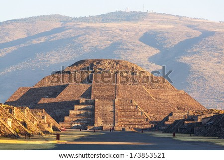 Pyramid of the Sun. Teotihuacan. Mexico. - stock photo