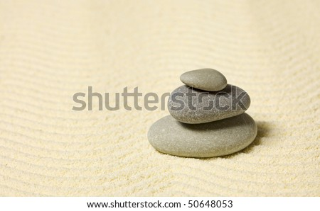 Pyramid of the three stones on the sand
