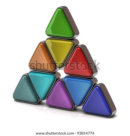Pyramid on white background - stock photo