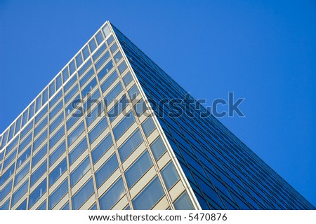 pyramid shape abstract architecture - stock photo