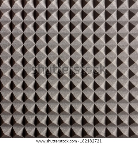 Pyramid Shaped Acoustic Treatment made of Foam Rubber - stock photo
