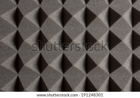 Pyramid Shaped Studio Acoustic Treatment Texture - stock photo