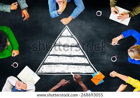 Pyramid Top Leadership Development Promotion Concept - stock photo