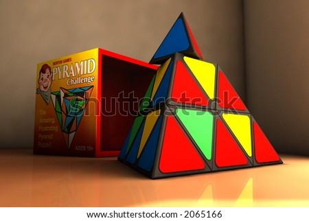 Pyramid Toy Puzzle - stock photo